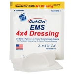 QuiClot® EMS 4x4 Dressing, no x-ray,bag of 3