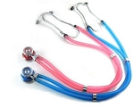 Kentex_Unikue Sprague Rappaport Stethoscope with Colored Head with Matching Colored Tube, Red