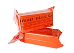 Orange Vinyl Foam Head Blocks, Pair