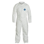 Coverall, Zipper Front. White