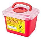 Kentex Stackable 5.0 Liter Sharp Container