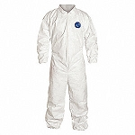 Coverall, Zipper Front, Elastic Wrists &Ankles. White