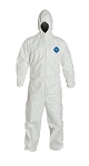 Tyvek hooded coverall
